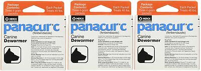 Panacur C Canine Dewormer, Net Wt. 12 Grams, Package Contents Three, 4 Gram P...