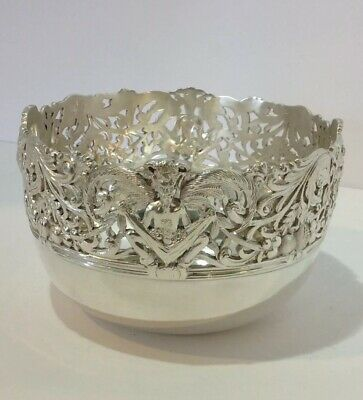 English Sterling Silver Bowl With Satyrs. Faces. Thomas. Bond St.London  1902