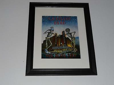 "Framed Grateful Dead NYC 1980 Halloween Poster, 14"" by 17"" Radio City Music Hall"
