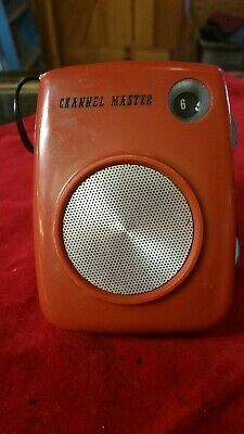 Vintage RED Channel Master AM Six Transistor Working