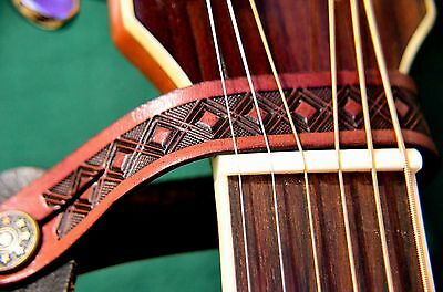 Leather Headstock Strap Tie Hook Button Uk