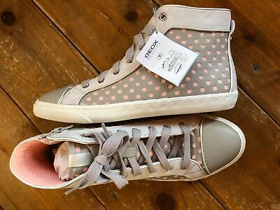 46bdaef534 Geox 10 Women's New Club D5258B Sneakers Synthetic and Leather High Top  (9.5 FIT