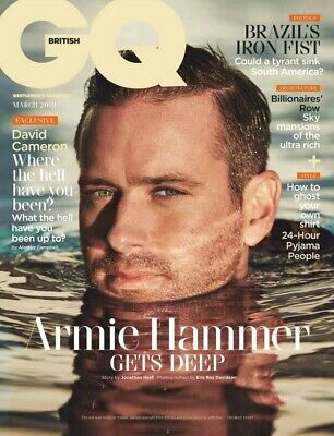 British GQ Magazine March 2019 AMERICAN ACTOR ARMIE HAMMER COVER & INTERVIEW