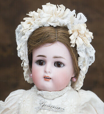 "15 1/2"" Antique German Bisque Walking Doll by Kammer & Reinhardt, Simon & Halbig"