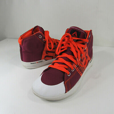 d4fe48eb454 Reebok Crossfit Lite Tr Hi Training Shoes Size 8 Womens Berry Orange M43433