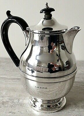 Art Deco Hallmark Silver Hot Water Jug - Birmingham 1931 Davenport Ltd
