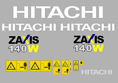Hitachi ZAXIS140W-3 Ensemble Complet Autocollant Mini Pelle