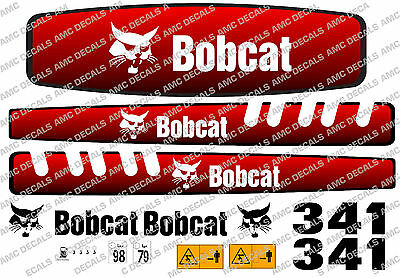 Bobcat 341 Mini Digger Decal Set