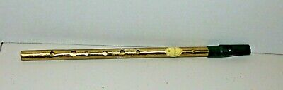 "Irish Tin Feadog Penny Whistle Irish Products Brass Key ""D"""