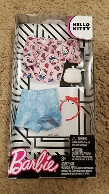 Barbie Doll Hello Kitty Print Shirt & Shorts Complete Look Pack Fashion Outfit