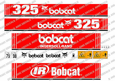 Bobcat 325 Mini Digger Decal Set