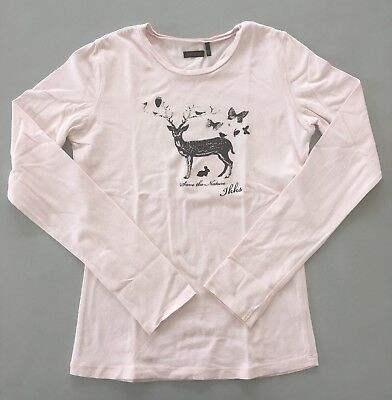 1c97edfcca366 IKKS Tee-shirt ML Rose « Save The Nature » 12 Ans Bon État