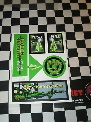 Lot Of 2 Green Arrow Promo Items Poster And Window Sticker Sheet