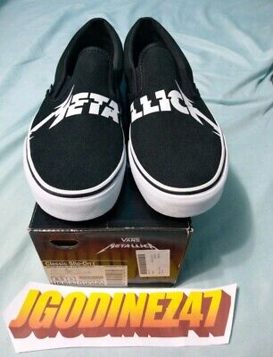 a6a81e6af32b Vans x Metallica Kirk Hammett Limited Edition Classic Slip On Size 8.5 New
