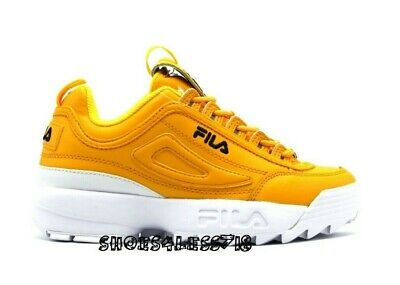 071dc0b1 NEW WOMENS CLASSIC Fila Disruptor 2 Premium Limited Edition Dark Yellow  Sneakers