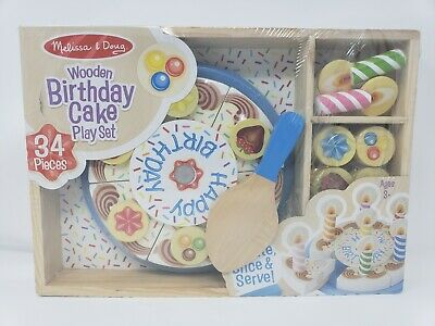 Terrific New Melissa And Doug Birthday Party Cake 13 99 Picclick Funny Birthday Cards Online Alyptdamsfinfo