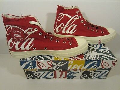 5d2c6532288c Kith X Coca Cola Converse Chuck Taylor All-Star 70S Hi Red - Size 11.5