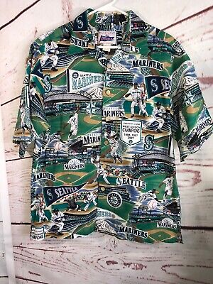 78f89e38 Seattle Mariners Hawaiian Shirt Classic Mariner's Tradition Reyn Spooner  Sz: L