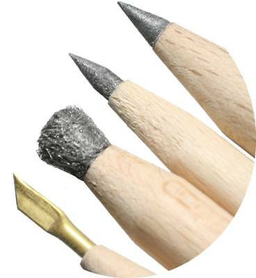 Andre's pencils, fantastic set of 4 cleaning pencils for coins and relics