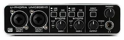 Behringer U-Phoria UMC202HD Audiophile 2x2, 24-bit/192 kHz USB Audio Interface