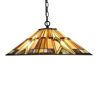 Tiffany Style Stained Glass Ceiling Pendant Light Fixture 2