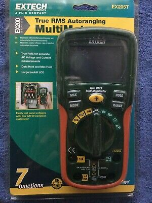 New Old Stock Extech EX205T True RMS Auto Ranging Digital Multimeter.