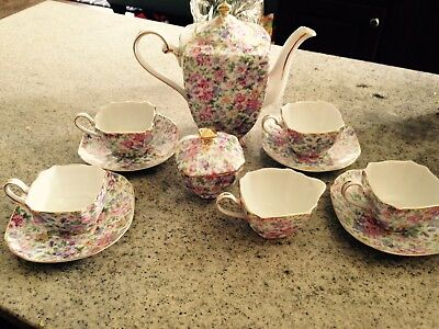 Royal Cotswolds English Tradition Chintz China Tea 11-piece