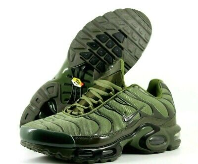 wholesale dealer 3635f a9c3f Nike Tuned TN Air Max Plus Mens UK 10 EU 44 Army Green Sneakers Trainers  604133