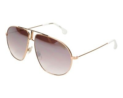0d13feff4000 Carrera Bound DDBNQ 60-12 145 Rose Gold Tone White Mirrored Pilot Sunglasses  NWT