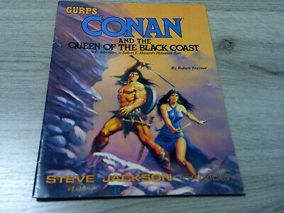 GURPS 3rd Ed. Conan and the Queen of the Black Coast Solo Adventure SJG 1989 VG
