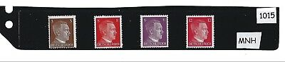 #1015 Small MNH stamp set / Adolph Hitler / Nazi Germany / Third Reich / 1941