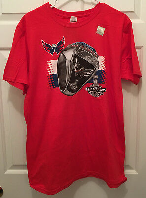 NWT Washington Capitals 2018 NHL Stanley Cup Champions Rings Red T-Shirt XL 91a6d5ae5