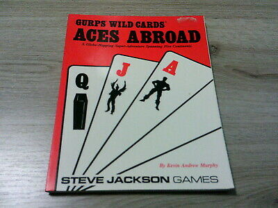 GURPS 3rd Edition Wild Cards Aces Abroad SC Steve Jackson Games 1991 VG