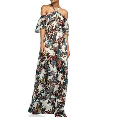 fe3945325fcab BCBGMAXAZRIA Kelley Off-The-Shoulder Halter Gown MSRP $290 Size 6 # 2F 278
