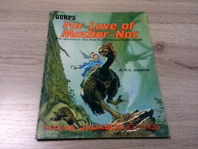GURPS 3rd Edition For Love of Mother-Not  Adventure Steve Jackson Games 1989 VG