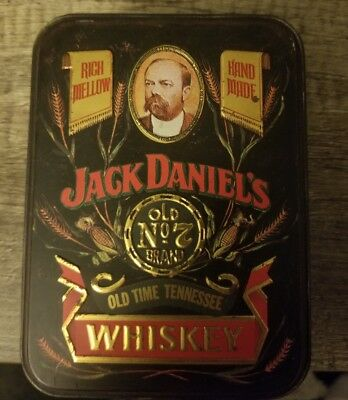 Vintage Jack Daniels Whiskey Tin Collector man cave distillery collectible