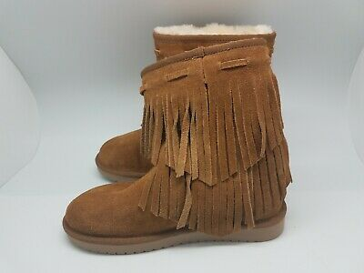 aac9aface03 KOOLABURRA BY UGG 1015897 Ankle Cable Winter Boots Woman US 5 Chestnut