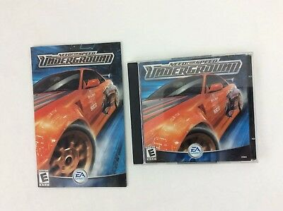 NEED FOR SPEED: Underground ~  2 CD Jewel Case Edition (EA Games, 2003, PC)