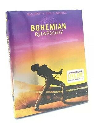 Bohemian Rhapsody (Blu-ray+DVD+Digital, 2019) NEW with Slipcover
