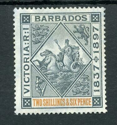 Barbados 1897-98 Diamond Jubilee 2/6 on blued paper SG133 MLH cat £130
