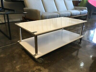Vintage Habitat UK Modernist Industrial Metal Coffee Table