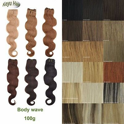 """Remy 100% Body Wave Human Hair Weaving Weft Extensions 14""""16""""18""""20""""22""""24"""" 100g"""
