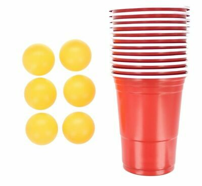 Beer Pong Party Games 18pc Set 12 Cups 6 Balls
