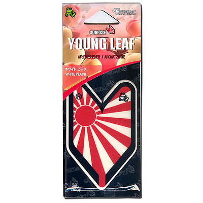 Treefrog Young Leaf Sunrise Rising Sun JDM white peach hanging air freshener