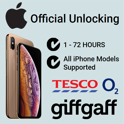 Fast Unlocking Service O2 Tesco UK For iPhone 6 / 6S / 7 / 8 / X / XS Max Plus