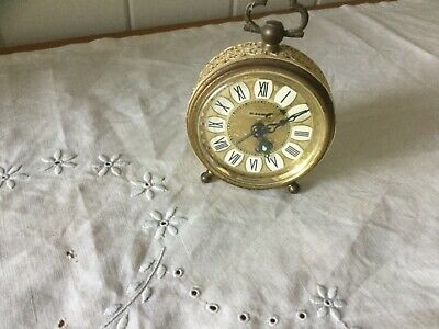 """Vintage """"Blessing"""" Brass Alarm Clock - Made in West Germany"""