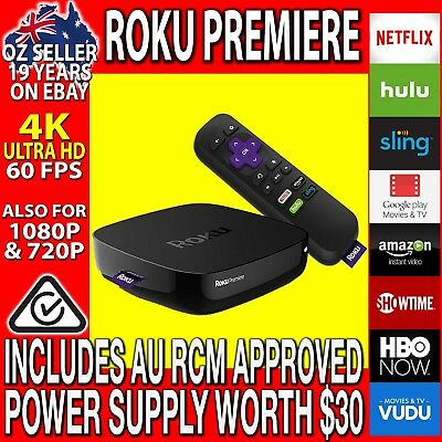 ROKU Premiere 4K Ultra HD & 1080P Streamer for NETFLIX PLEX Youtube (Premier)
