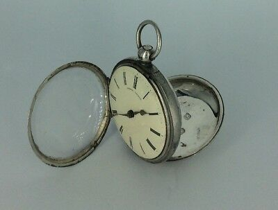 1841  SILVER Pocket Watch Fusee George Atkins - (Brockbanks & Atkins) London