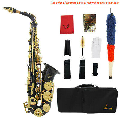 LADE Professional Eb Alto Sax Saxophone with Case and Accessories Black New X1A4