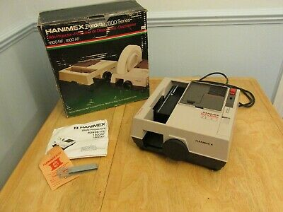 Hanimex Rondette 1800 Series Slide Projector Boxed With Remote Control